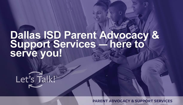 Dallas ISD Parent Advocacy and Student Services