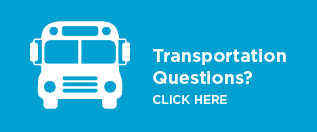 Clip art of a school bus with a link to the transportation webpage