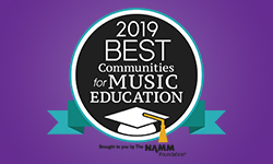 NAMM 2019 Best Communities for Music Education seal
