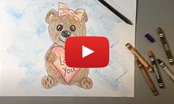 """Visual Art - """"Bear Hugs"""" Directed Drawing"""